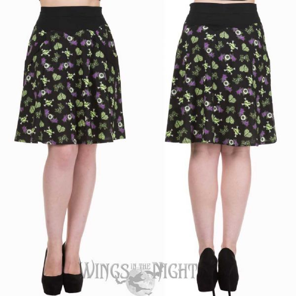 BANNED APPAREL Ladies Gothic Midnight Hour Skirt